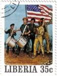 Stamps : Africa : Liberia :  Norman Rockwell, ilustrador, fotógrafo y pintor.