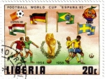 Stamps : Africa : Liberia :  Copa del mundo de futbol España 82