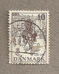 Sellos de Europa - Dinamarca -  Rey Cristian a caballo