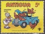 Sellos de America - Antigua y Barbuda -  Antigua 1980 Scott567 Sello Nuevo Disney Transporte Abuela Pato
