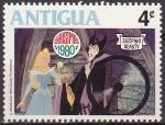Stamps Antigua and Barbuda -  Antigua 1980 Scott595 Sello Nuevo Disney La Bella Durmiente