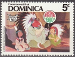 Sellos del Mundo : America : Antigua_y_Barbuda : Dominica 1980 Scott 684 Sello Nuevo Disney Peter Pan, Princesa y Padre Indio