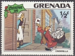 Stamps America - Antigua and Barbuda -  Grenada 1981 Scott 1063 Sello Nuevo Disney Cenicienta y Cartero Navidad