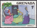 Stamps America - Antigua and Barbuda -  Grenada 1981 Scott 1064 Sello Nuevo Disney Cenicienta Madrastra y Hermanastras Navidad