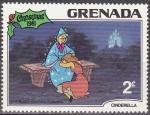 Stamps America - Antigua and Barbuda -  Grenada 1981 Scott 1065 Sello Nuevo Disney Cenicienta y Hada madrina Navidad