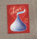 Stamps United States -  Amor y besos