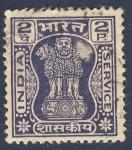 Stamps India -  tres leones 2P