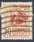 sellos de America - México -  Michoacan   Danza de los Moros
