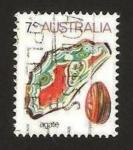 Stamps Australia -  agate
