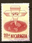 Stamps Nicaragua -  CRUZ  SOBRE  EL  MUNDO