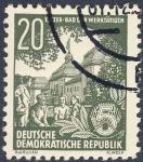 Stamps Germany -  DDR Elster bad der werktatigen