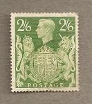 Sellos de Europa - Reino Unido -  Jorge VI y Escudo británico