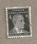 Sellos de Asia - Turquía -  Kemal Ataturk