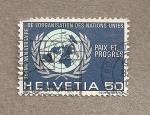 Sellos de Europa - Suiza -  25 Aniv Naciones Unidas