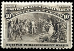 Stamps United States -  Columbus Presenting natives #237