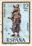 Stamps Spain -  Navidad 1975. Congreso internacional de Belenistas.