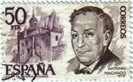Stamps Europe - Spain -  Personajes Españoles. Antonio Machado