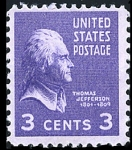 Sellos de America - Estados Unidos -  Thomas Jefferson Scott #807 - 1938