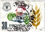 Stamps : Europe : Spain :  Dia mundial de la alimentación.