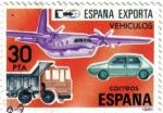 Stamps : Europe : Spain :  España exporta, vehículos de transporte