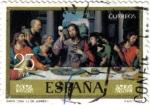 Sellos del Mundo : Europa : España : Dia del sello. Santa cena de Juan de Juanes
