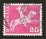 Stamps : Europe : Switzerland :  Cartero a caballo
