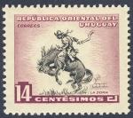 Stamps Uruguay -  La doma 14 centimos 1954