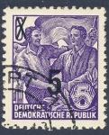Stamps Germany -  DDR abanderado