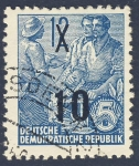 Stamps Germany -  DDR Oficios 10 1954