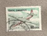 Stamps Turkey -  Avión comercial