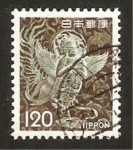 Stamps : Asia : Japan :  escultura mitologica