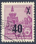 Stamps Germany -  DDR Dresden Zwinger Aufbau
