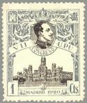 Sellos de Europa - España -  ESPAÑA 1920 297 Sello Nuevo VII Congreso de la UPU Alfonso XIII y Palacio Comunicaciones Madrid 1c c