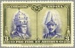 Stamps Spain -  ESPAÑA 1928 405 Sello Nuevo Pro Catacumbas de San Dámaso en Roma Serie para Toledo 3c