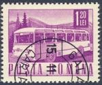 Stamps Romania -  autobus