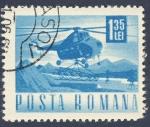Stamps Romania -  helicoptero