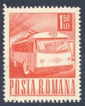 Sellos de Europa - Rumania -  autobus electrico