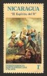 Sellos de America - Nicaragua -  independencia norteamerica