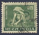 Sellos de Asia - India -  recojida de te