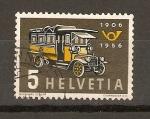 Stamps Switzerland -  BUS