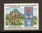 Stamps El Salvador -  SCOUTS