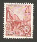 Stamps Germany -  317 B - Avenida Stalin en Berlin