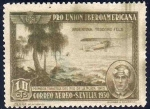 Stamps Spain -  ESPAÑA 1930 584 Sello ** Pro Union Iberoamericana Sevilla Correo Aereo Argentina