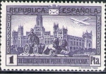 Stamps Europe - Spain -  ESPAÑA 1931 618 Sello Nuevo Congreso Union Postal Panamericana Plaza Cibeles Madrid 1pta