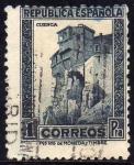 Sellos del Mundo : Europa : España : ESPAÑA 1932 673 Sello Casas Colgadas Cuenca 1pta Usado República Española