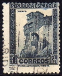 Stamps Europe - Spain -  ESPAÑA 1932 673 Sello Casas Colgadas Cuenca 1pta Usado República Española