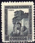 Stamps Europe - Spain -  ESPAÑA 1932 673 Sello Nuevo Casas Colgadas Cuenca 1pta República Española