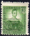 Sellos del Mundo : Europa : España : ESPAÑA 1933 682 Sello º Personajes Mariana Pineda 10c República Española