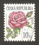 Stamps : Europe : Czech_Republic :  491 - flor rosa