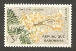 Sellos del Mundo : Africa : Gabón : flora, cassia jaune